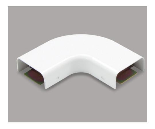 メタルモール付属品 フラットエルボ B型 ホワイト  B2032