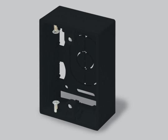 ニュー・エフモール付属品 露出ボックス 1個用 浅型 ブラック  SFBA1W