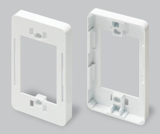 ニュー・エフモール付属品 コンセント用引出フレーム 1個用 ホワイト  SFBK12