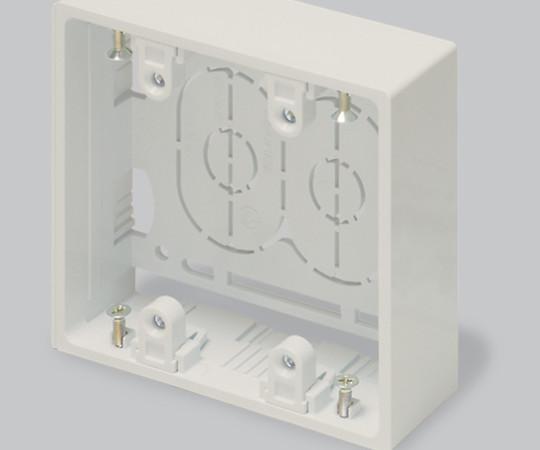 ニュー・エフモール付属品 露出ボックス 2個用 深型 ミルキーホワイト  SFBF23