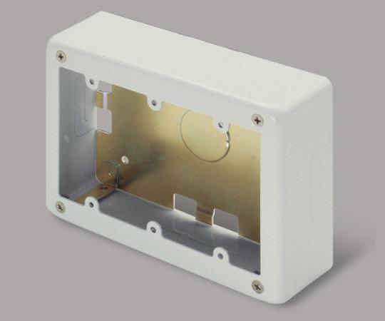 メタルモール付属品 3個用スイッチボックス 深型 ミルキーホワイト  AB6133