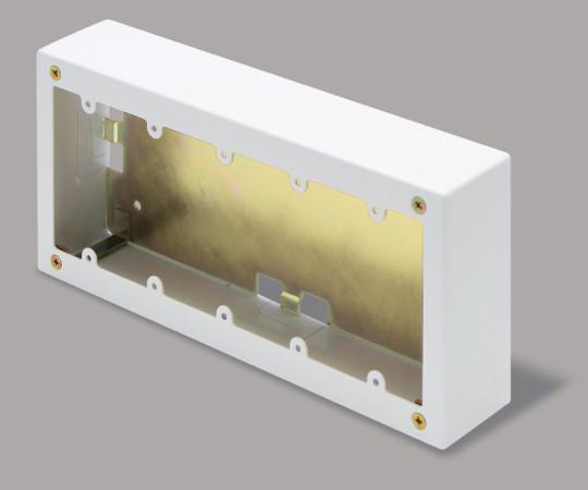 メタルモール付属品 5個用スイッチボックス 深型 ホワイト  AB6152