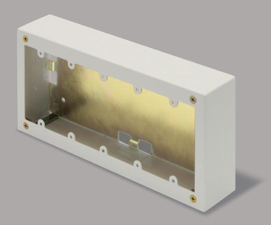 メタルモール付属品 5個用スイッチボックス 深型 ミルキーホワイト  AB6153