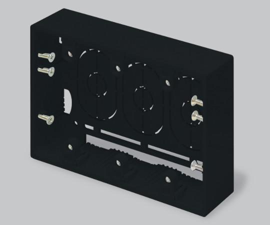 ニュー・エフモール付属品 露出ボックス 3個用 深型 ブラック  SFBF3W