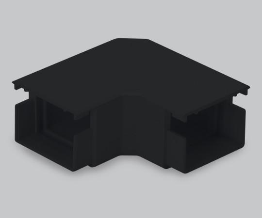 屋外用エムケーダクト付属品 平面マガリ 2号 ブラック  MDM12W