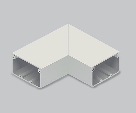 エムケーダクト付属品 平面マガリ 8号200型 ミルキーホワイト  MDM8203