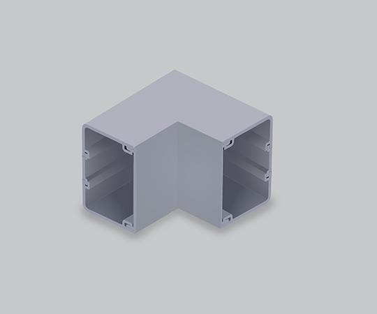 エムケーダクト付属品 内マガリ 8号200型 グレー  MDU8201