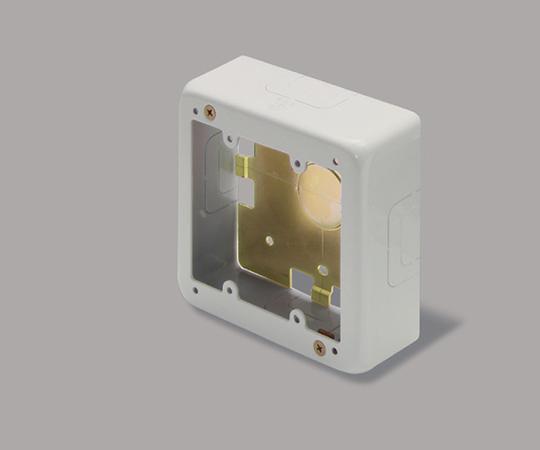 メタルモール付属品 2個用スイッチボックス 浅型 B・C型ノック ミルキーホワイト  BC3123