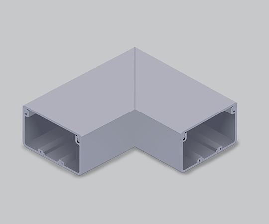 エムケーダクト付属品 平面マガリ 8号 グレー  MDM181