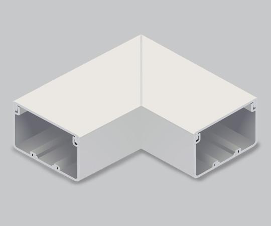 エムケーダクト付属品 平面マガリ 8号 クリーム  MDM185