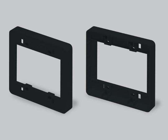 ニュー・エフモール付属品 コンセント用引出フレーム 2個用 ブラック  SFBK2W