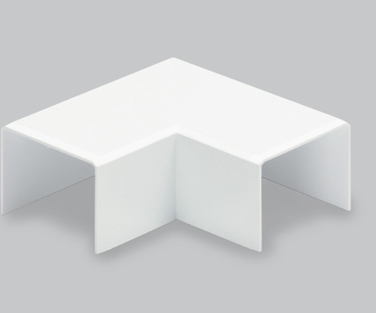 エムケーダクト付属品 平面マガリ 後付け型 1号 ホワイト  MDMC112