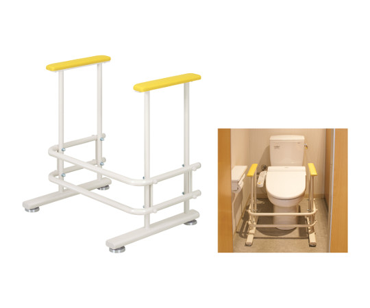 トイレ補助手すり 幅60(内寸49)×奥行46×高さ64cm オレンジ  TB-1426