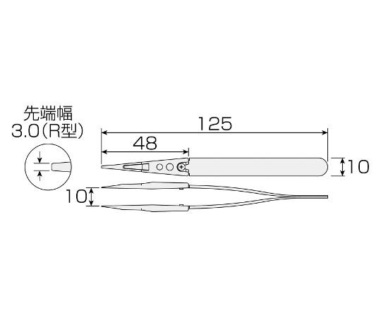 ESDソフトチップピンセット  P-643-J