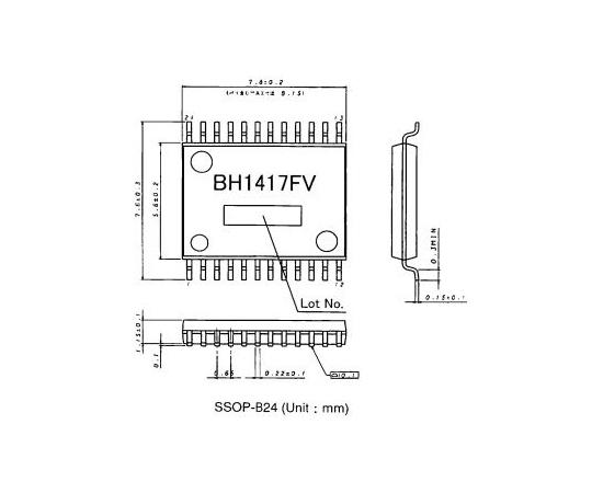 FMステレオトランスミッタ IC  BH1417FV-E2