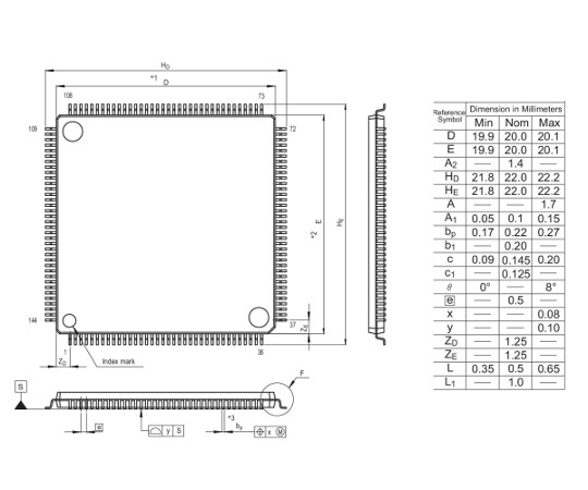 [取扱停止]RX600/RX63T MCU(144ピン)  R5F563TEADFB#V0
