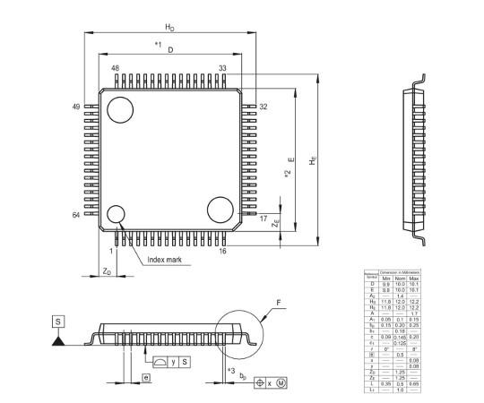[取扱停止]78Kファミリマイコン(78K0R/Kx3)  UPD78F1145AGB-GAH-AX