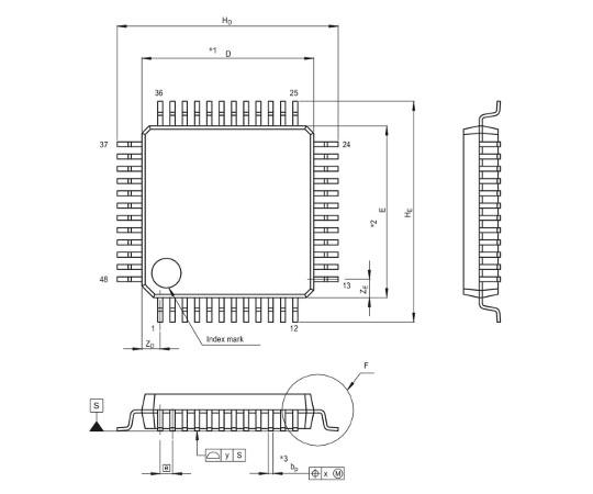 [取扱停止]78Kファミリマイコン(78K0/Lx3)  UPD78F0411GA-GAM-AX