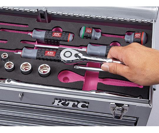 [取扱停止]ラチェットコンビ採用セット 銀 発泡トレイ  SK35119XS