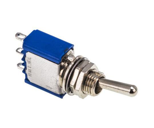 63-4720-77 トグルスイッチ 単極単投(SPST) ラッチ ハンダ端子  5636A[APEM] APEM Single Pole Single Throw (SPST) Toggle Switch, Latching, Panel Mount
