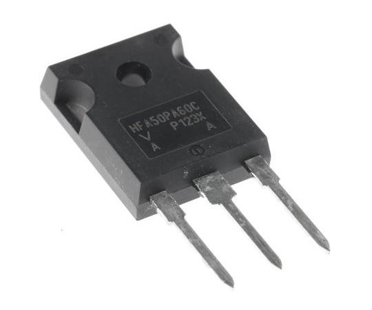 Vishay 600V 50A, Dual Silicon Junction Diode, 3-Pin TO-247AC VS-HFA50PA60C-N3 VS-HFA50PA60C-N3