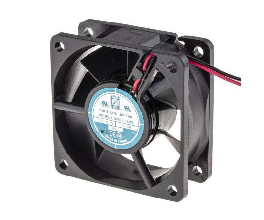 RS PRO Axial Fan, 60 x 60 x 25mm, 18cfm, 1.7W, 12 V dc 541-4965