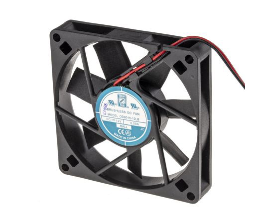 RS PRO Axial Fan, 80 x 80 x 15mm, 20cfm, 1.1W, 12 V dc 541-4993