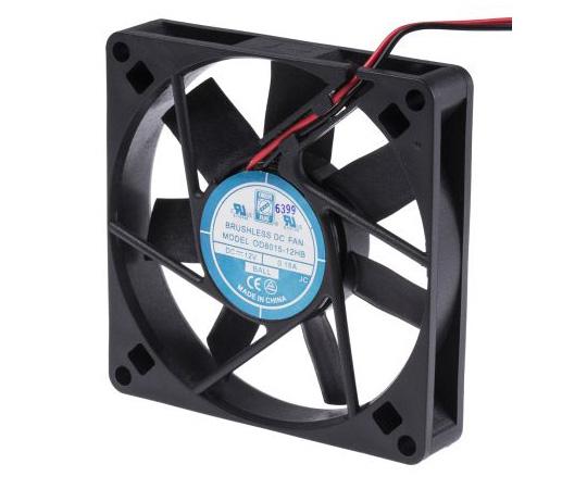 RS PRO Axial Fan, 80 x 80 x 15mm, 30cfm, 2.3W, 12 V dc 541-5025