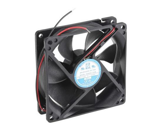 RS PRO Axial Fan, 92.5 x 92.5 x 25mm, 53cfm, 3W, 12 V dc 541-5081
