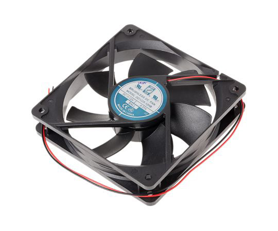 RS PRO Axial Fan, 120 x 120 x 25mm, 89cfm, 5W, 12 V dc 541-5110