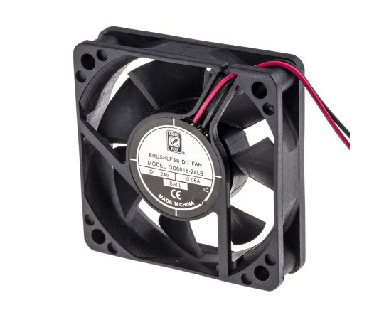RS PRO Axial Fan, 60 x 60 x 15mm, 12cfm, 1.2W, 24 V dc 541-5182