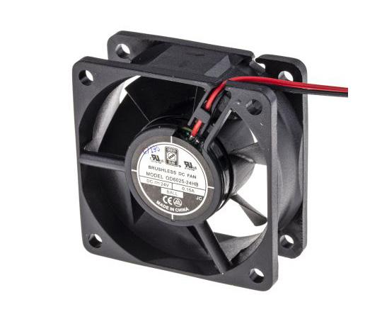 RS PRO Axial Fan, 60 x 60 x 25mm, 24cfm, 3.5W, 24 V dc 541-5249