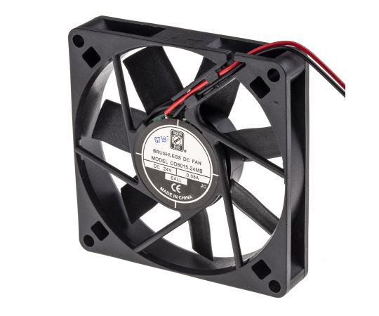 RS PRO Axial Fan, 80 x 80 x 15mm, 23cfm, 3.6W, 24 V dc 541-5261