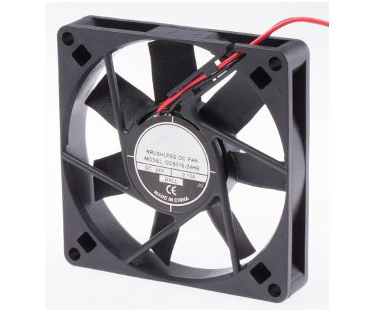 RS PRO Axial Fan, 80 x 80 x 15mm, 30cfm, 4.6W, 24 V dc 541-5277