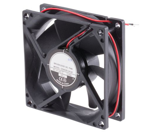 RS PRO Axial Fan, 80 x 80 x 25mm, 26cfm, 960mW, 24 V dc 541-5283