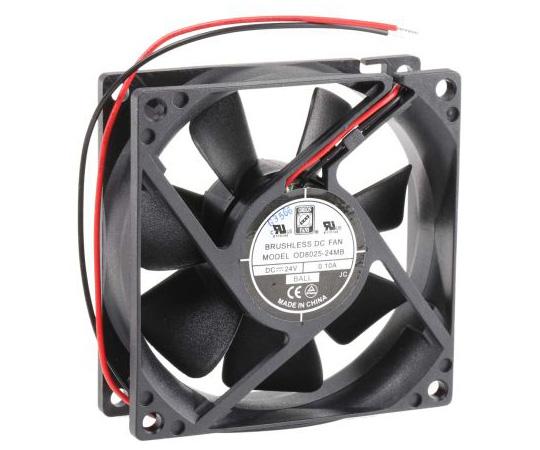 RS PRO Axial Fan, 80 x 80 x 25mm, 31cfm, 1.67W, 24 V dc 541-5299