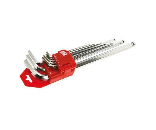 RS 9 pieces 1.5 mm, 2 mm, 2.5 mm, 3 mm, 4 mm, 5 mm, 6 mm, 8 mm, 10 mm Ball End Hex Key Set 542-3515