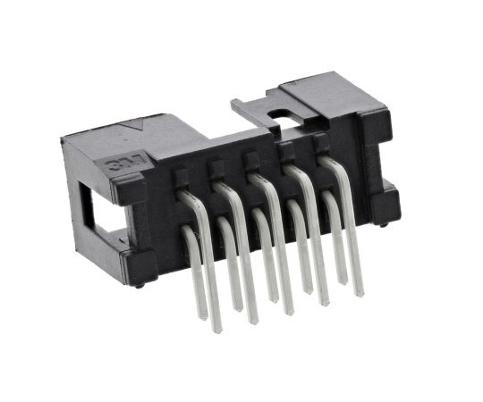 [Discontinued]3M 2500, 10 Way, 2 Row, Right Angle PCB Header N2510-5002RB
