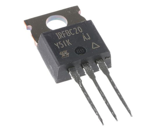 IRFBC20PBF N-Channel MOSFET, 2.2 A, 600 V, 3-Pin TO-220AB Vishay IRFBC20PBF
