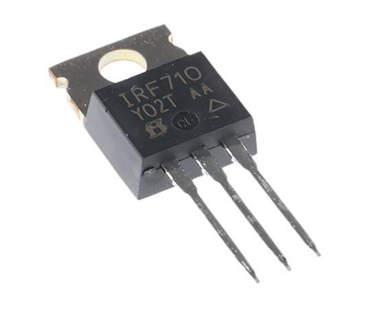 IRF710PBF N-Channel MOSFET, 2 A, 400 V, 3-Pin TO-220AB Vishay IRF710PBF