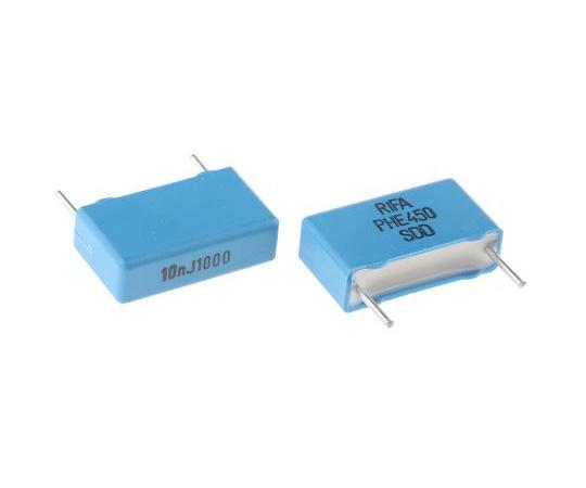 KEMET 10nF Polypropylene Capacitor PP 1 kV dc, 600 V ac ±5% Tolerance Through Hole PHE450 Series PHE450PB5100JR06