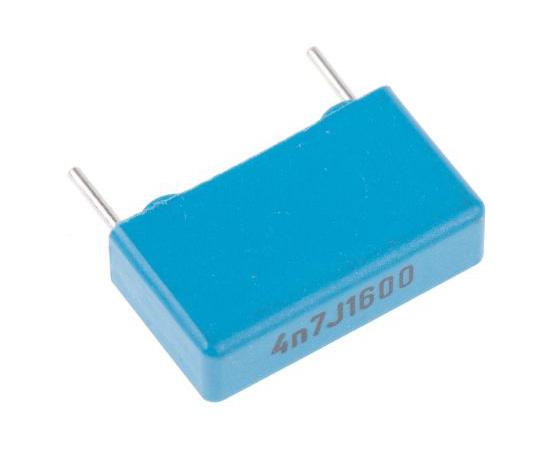 KEMET 4.7nF Polypropylene Capacitor PP 1.6 kV dc, 650 V ac ±5% Tolerance Through Hole PHE450 Series PHE450RB4470JR06