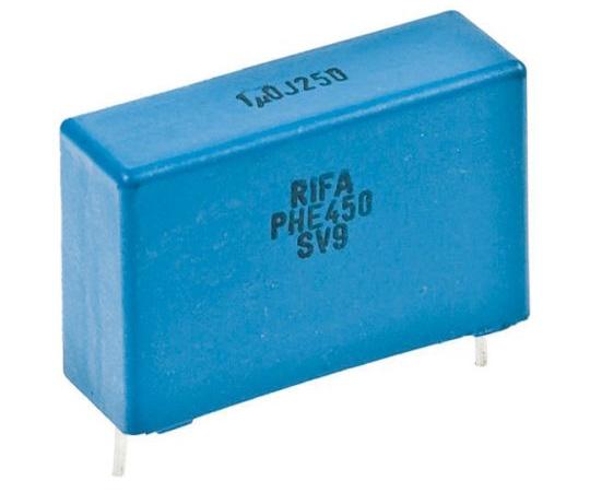 KEMET 10nF Polypropylene Capacitor PP 1.6 kV dc, 650 V ac ±5% Tolerance Through Hole PHE450 Series PHE450RD5100JR06L2