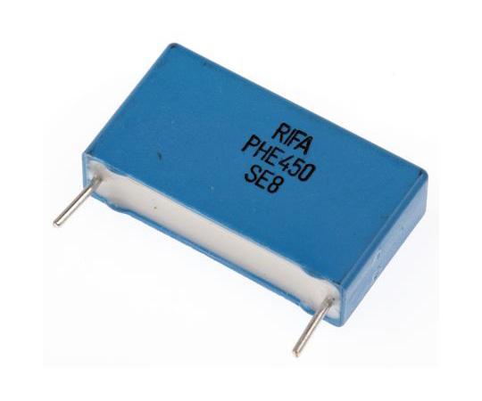 KEMET 22nF Polypropylene Capacitor PP 1.6 kV dc, 650 V ac ±5% Tolerance Through Hole PHE450 Series PHE450RD5220JR06L2
