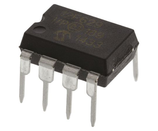 [Out of stock]Microchip PIC12F629-I/P, 8bit PIC Microcontroller, 20MHz, 128 B, 1024 x 14 words Flash, 8-Pin PDIP PIC12F629-I/P