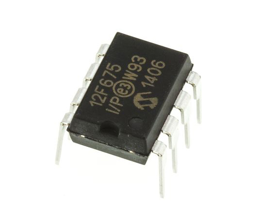 Microchip PIC12F675-I/P, 8bit PIC Microcontroller, 20MHz, 1024 x 14 words, 128 B Flash, 8-Pin PDIP PIC12F675-I/P