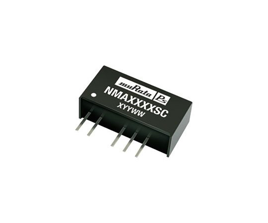 [Discontinued]Murata Power Solutions NMA 1W Isolated DC-DC Converter Through Hole, Voltage in 21.6 → 26.4 V dc, Voltage out NMA2405SC