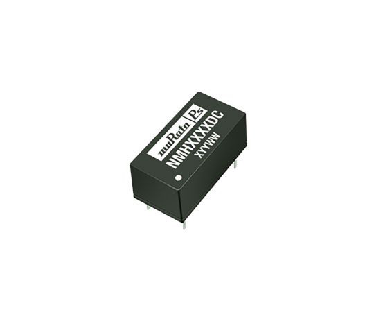 Murata Power Solutions NMH 2W Isolated DC-DC Converter Through Hole, Voltage in 4.5 → 5.5 V dc, Voltage out ±12V NMH0512DC