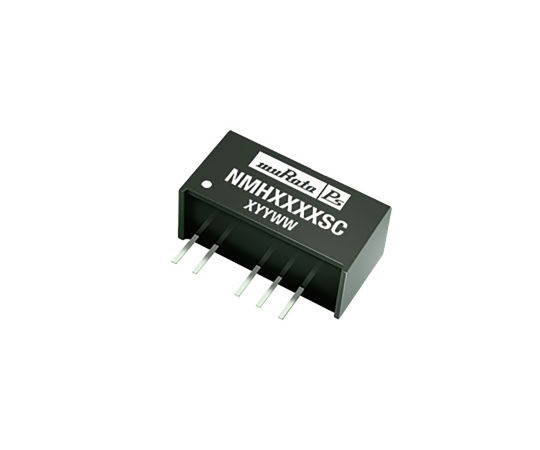 Murata Power Solutions NMH 2W Isolated DC-DC Converter Through Hole, Voltage in 4.5 → 5.5 V dc, Voltage out ±12V NMH0512SC