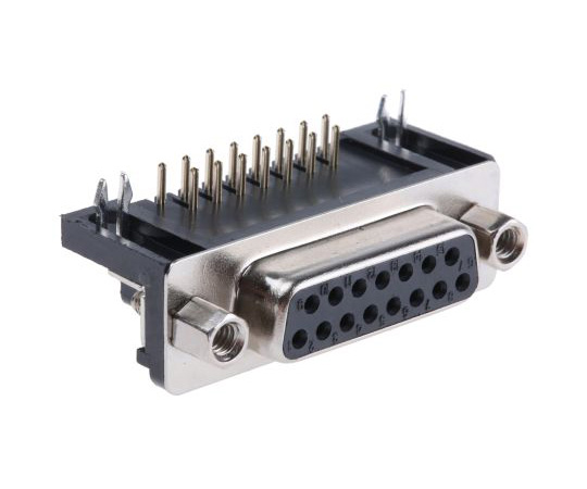 RS 15 Way Right Angle Rectangular Connector Socket 544-3979